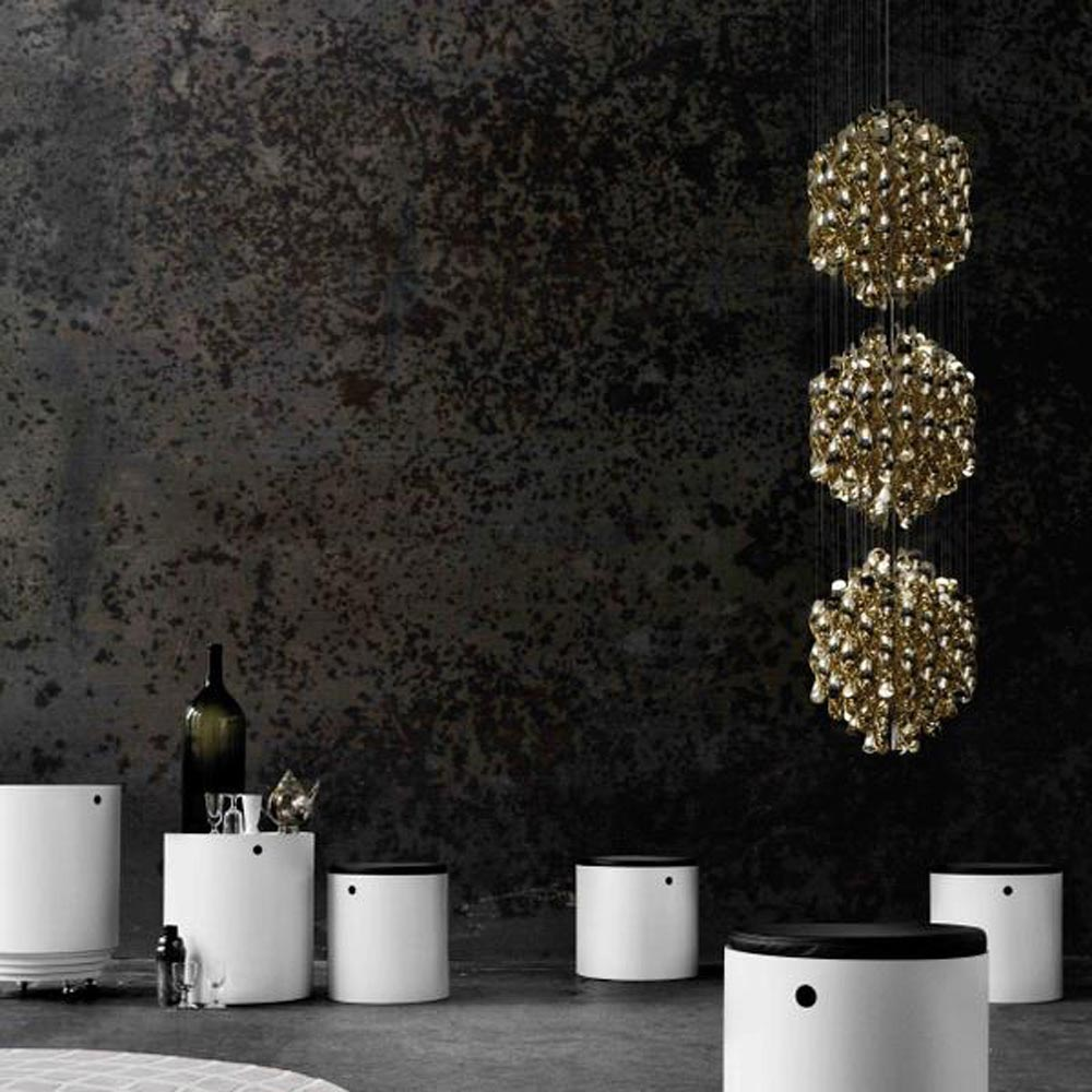 Spiral Sp3 Gold Pendant Lamp by Verpan
