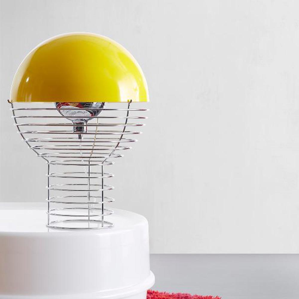 Wire Yellow Table Lamp by Verpan