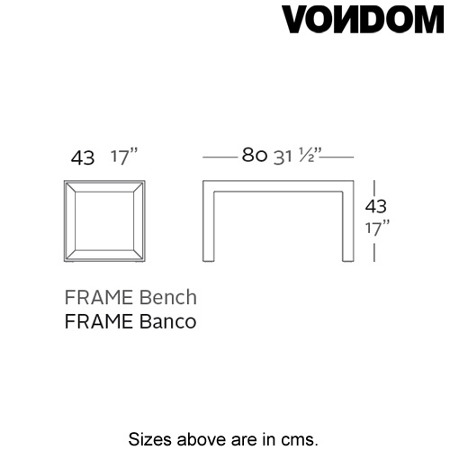 Frame Bench by Vondom