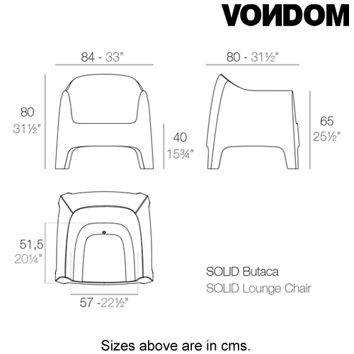 Solid Armchair by Vondom