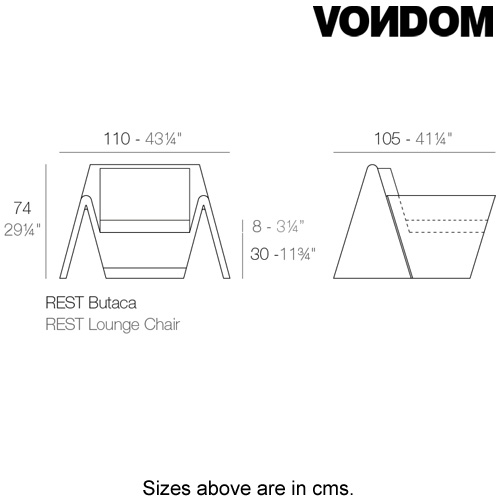 Rest Armchair by Vondom