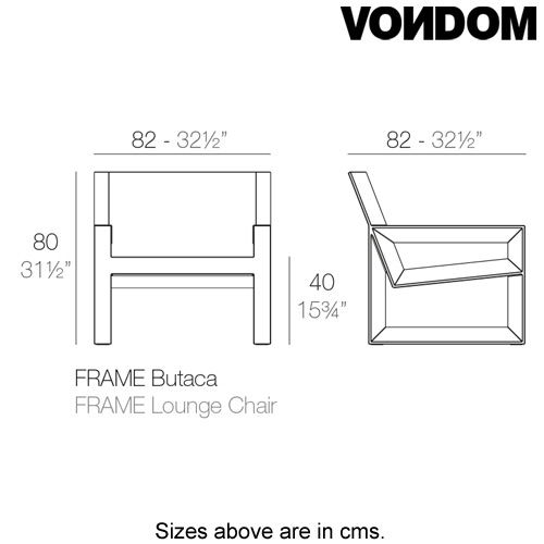 Frame Lounge Chair by Vondom