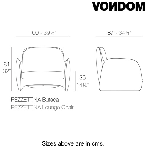 Pezzettina Lounger by Vondom