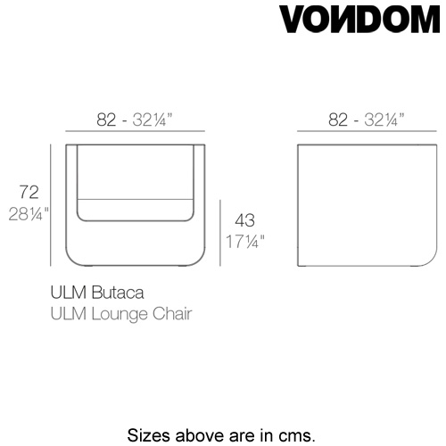 Ulm Lounge Chair by Vondom